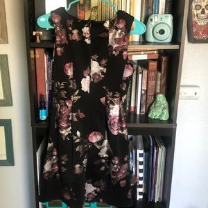 Sweet Storm Dresses - Black, silver and pink roses dress